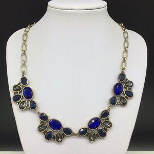 J CREW Blue Gray Rhinestone Necklace JCREW